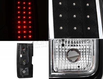 Hummer H2 2003-2009 Black LED Tail Lights