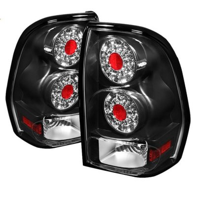 Chevy Trail Blazer 2002-2009 Black LED Tail Lights