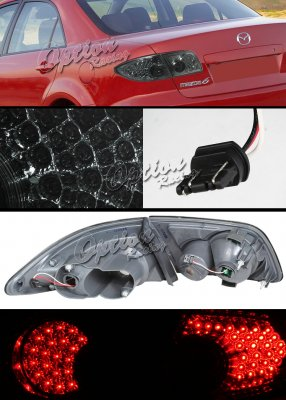 Mazda 6 2003-2006 Smoked LED Tail Lights