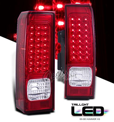 Hummer H3 2005-2008 Red LED Tail Lights
