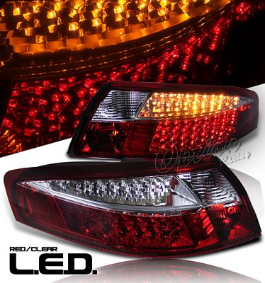 Porsche 911 Carrera 1998-2004 Red and Clear LED Tail Lights