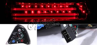 Mercedes C Class 1995-2000 Red and Clear LED Tail lights