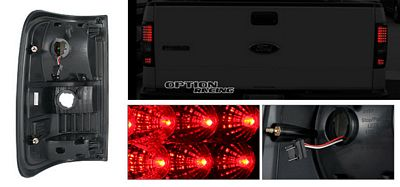Ford F150 2004-2008 Red LED Tail Lights