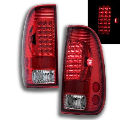 ford f350 super duty 1999 2007 red led tail lights. Black Bedroom Furniture Sets. Home Design Ideas