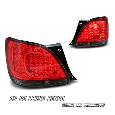 Lexus GS300 1998-2005 Red and Smoked LED Tail Lights