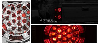 Chevy Silverado 2007-2009 Clear LED Style Tail Lights