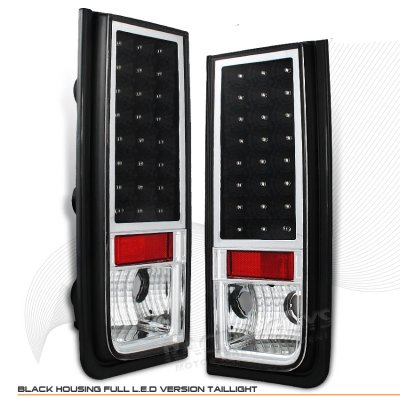 Hummer H2 2003 2009 Black Led Tail Lights A101gvep109