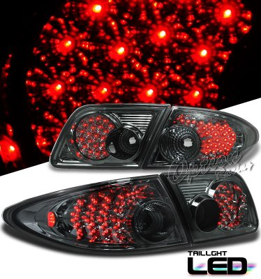 Mazda 6 2003 2006 Smoked Led Tail Lights A10158rw109