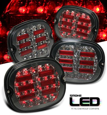 Chevy Corvette 1991-1996 Smoked LED Tail Lights
