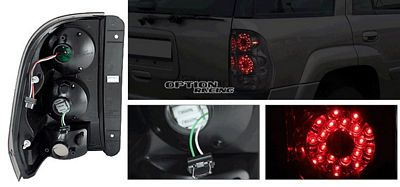 Chevy Trail Blazer 2002-2009 Smoked LED Tail Lights