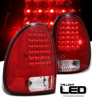 Dodge Durango 1998 2003 Red Led Tail Lights A101gt6i109 Topgearautosport