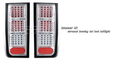 Hummer H2 2003-2006 Clear LED Look Tail Lights