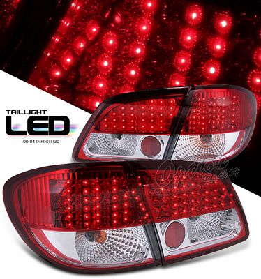 Infinite I30 2000-2004 Red and Clear LED Tail Lights