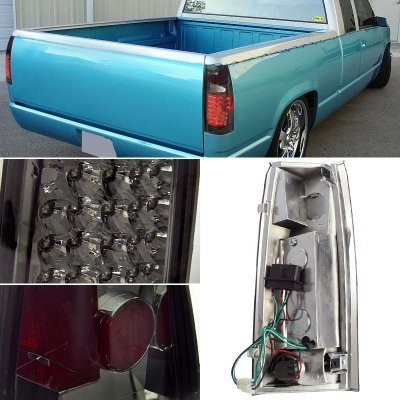 chevy silverado 1988 1998 led tail lights smoked lenses. Black Bedroom Furniture Sets. Home Design Ideas
