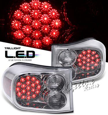 Toyota FJ Cruiser 2007-2010 Smoked LED Tail Lights