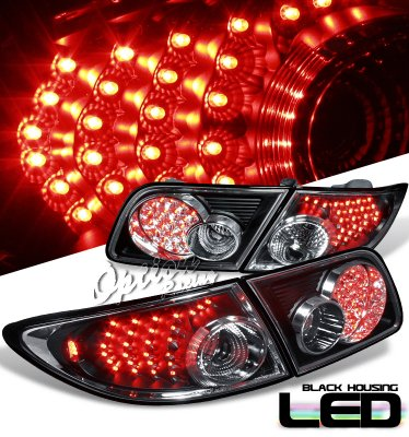 Mazda 6 2003-2008 Black LED Tail Lights