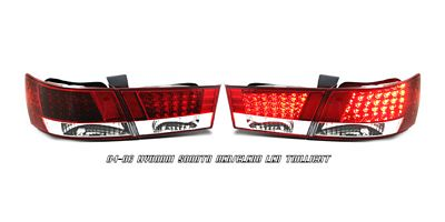 Hyundai Sonata 2006-2007 Red and Clear LED Tail Lights