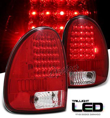 Dodge Caravan 1996 2000 Red Led Tail Lights A1017m93109