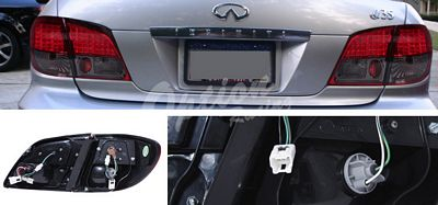 Infiniti I30 2000-2004 Red and Smoked LED Tail Lights