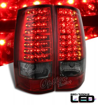 Chevy Tahoe 2007 2009 Red And Smoked Led Tail Lights A101h4zd109 Topgearautosport