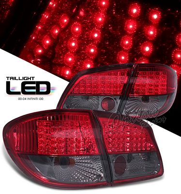 Infiniti I30 2000 2004 Red And Smoked Led Tail Lights