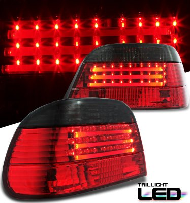 BMW E38 7 Series 1995-2001 Red and Smoked Neon Tube LED ...