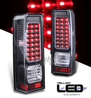 Hummer H3 2006-2009 Black LED Tail Lights