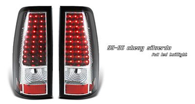 Chevy Silverado 1999-2006 Black LED Tail Lights