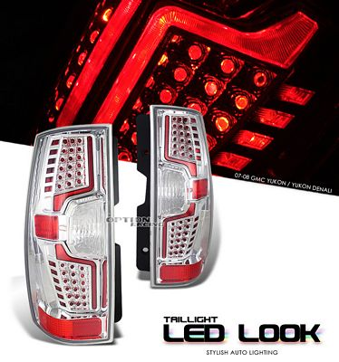 GMC Yukon Denali 2007-2010 Clear LED Look Tail Lights