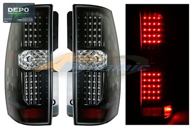 Chevy Suburban 2007-2009 Depo Black LED Tail Lights