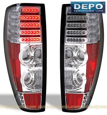 GMC Canyon 2004-2012 Depo Clear LED Tail Lights