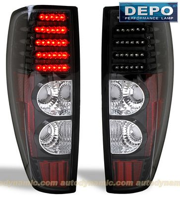 GMC Canyon 2004-2012 Depo Black LED Tail Lights