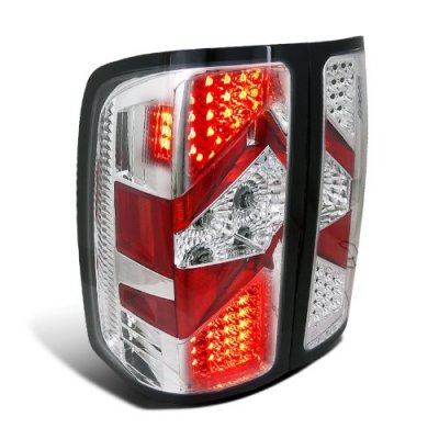 GMC Sierra 2007-2013 Depo Clear LED Tail Lights