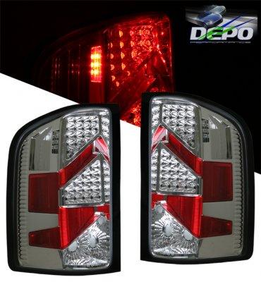 Chevy Silverado 2007-2013 LED Tail Lights Depo Chrome