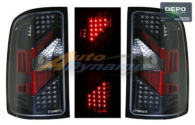 GMC Sierra 2007-2013 Depo Carbon Fiber LED Tail Lights