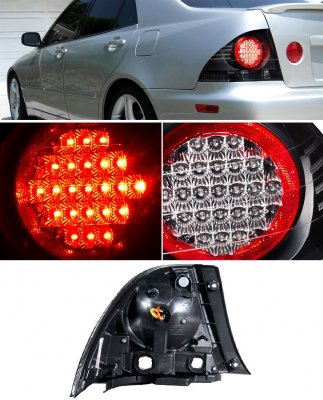 Lexus IS300 2001-2005 Depo Black LED Tail Lights