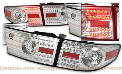 Honda Accord Sedan 2003-2005 Depo Clear LED Tail Lights