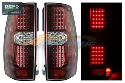 Chevy Suburban 2007-2009 Depo Red LED Tail Lights