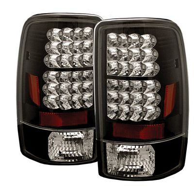 Chevy Suburban 2000-2006 Black LED Tail Lights