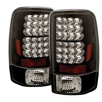 Chevy Suburban 2000-2006 Black LED Tail Lights