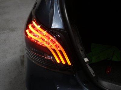 Beau ... Toyota Yaris Sedan 2007 2011 Black LED Tail Lights ...