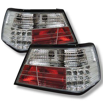 Mercedes Benz E Class 1986-1995 Clear LED Tail Lights