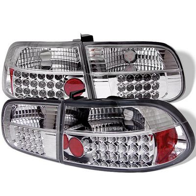 Honda Civic Hatchback 1992-1995 Clear LED Tail Lights