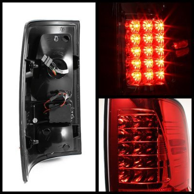 Dodge Ram 3500 2010-2015 Red and Clear LED Tail Lights