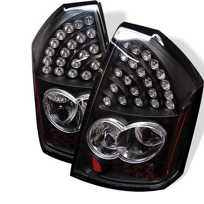Chrysler 300C 2005-2007 Black LED Tail Lights