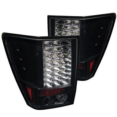 Jeep Grand Cherokee 2005-2006 Black LED Tail Lights