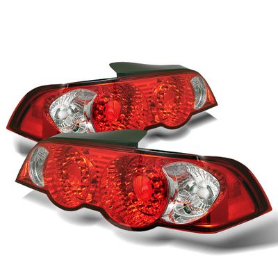 Acura RSX 2002-2004 Red and Clear LED Tail Lights