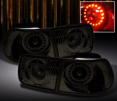 Honda Civic Coupe 1996 2000 Smoked Led Tail Lights
