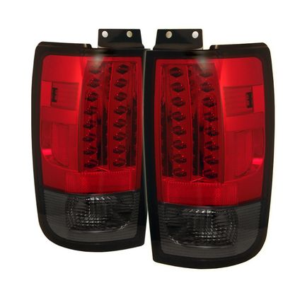 Ford Expedition 1997-2002 Red and Smoked LED Tail Lights