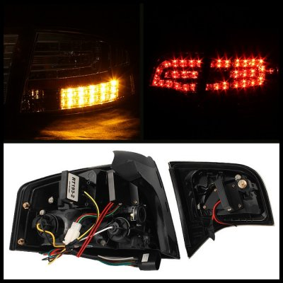 audi a4 sedan 2006 2008 red and clear led tail lights. Black Bedroom Furniture Sets. Home Design Ideas
